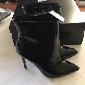 NWT faux leather booties